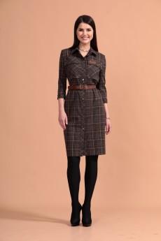 Платье 1444 коричневый Твой Имидж