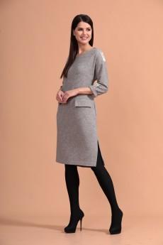 Платье 1446 серый  Твой Имидж