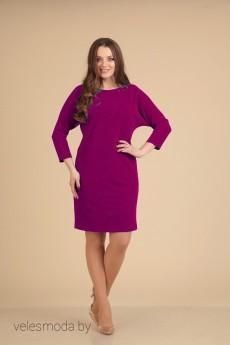 Платье 0762 бордовый VIOLA STYLE