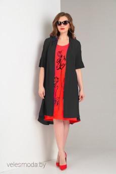 Костюм с платьем 5484 красный VIOLA STYLE