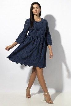 Платье 648 синий VIZAVI TEKSTIL