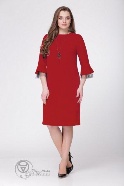 Платье 1024 красный VOLNA