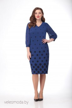 Платье 1076 синий VOLNA