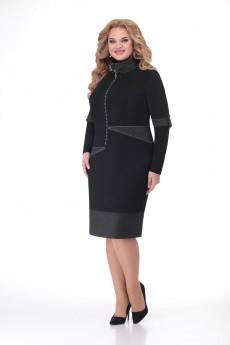 Платье 1176 черно-серебряный VOLNA