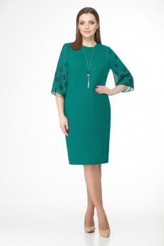 Платье 1181 бирюзово-зеленый VOLNA
