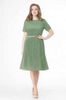Платье 1194 яблочно-зеленый VOLNA