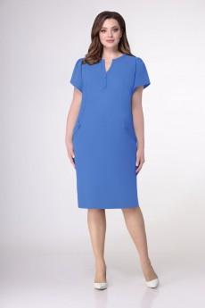 Платье 1198 васильково-голубой VOLNA