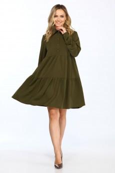 Платье 696 зеленый Vasalale