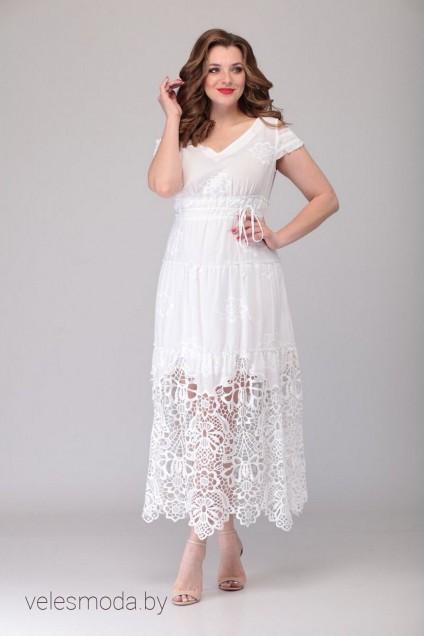 Платье 1199 белый VeritaModa