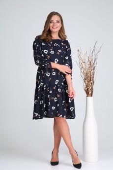 Платье 2052 синий-1 VeritaModa