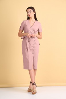 Платье 2103 розовый VeritaModa