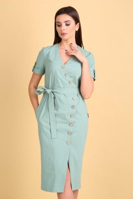 Платье 2103 серо-мятный VeritaModa