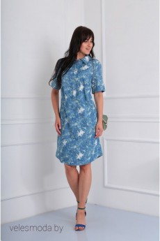Платье 353 голубой Via-mod