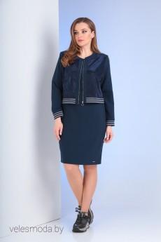Комплект с платьем 536 синий Vilena