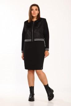 Костюм с платьем 536 черный Vilena