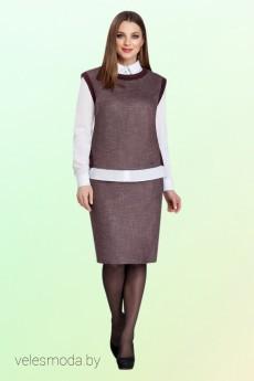 Костюм с юбкой 3004 Vitol Fashion