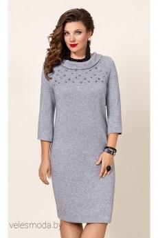 Платье 10243-2 серый Vittoria Queen