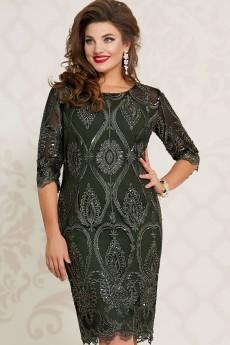 Платье 10543-2 темно-зеленый Vittoria Queen