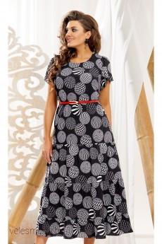 Платье 10993-1 черный+серый Vittoria Queen