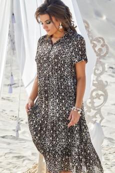 Платье 11253-1 бежево-коричневые тона Vittoria Queen
