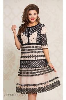 Платье 12333 пудра+черный Vittoria Queen