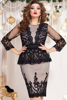 Платье 13023 черный+телесный Vittoria Queen