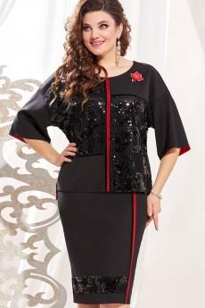 Платье 13303-1 черный Vittoria Queen