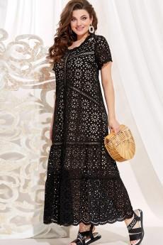 Платье 13943 черный + телесный Vittoria Queen