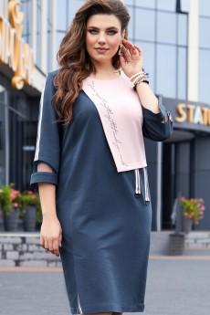 Платье 14513 темно-синий + розовый Vittoria Queen