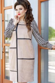 Платье 14613 черный + беж Vittoria Queen