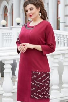 Платье 14753 замш бордо Vittoria Queen