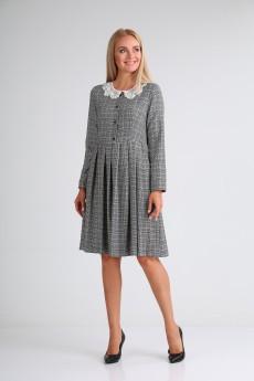 Платье 2104 мультиколор в клетку YOUR SIZE